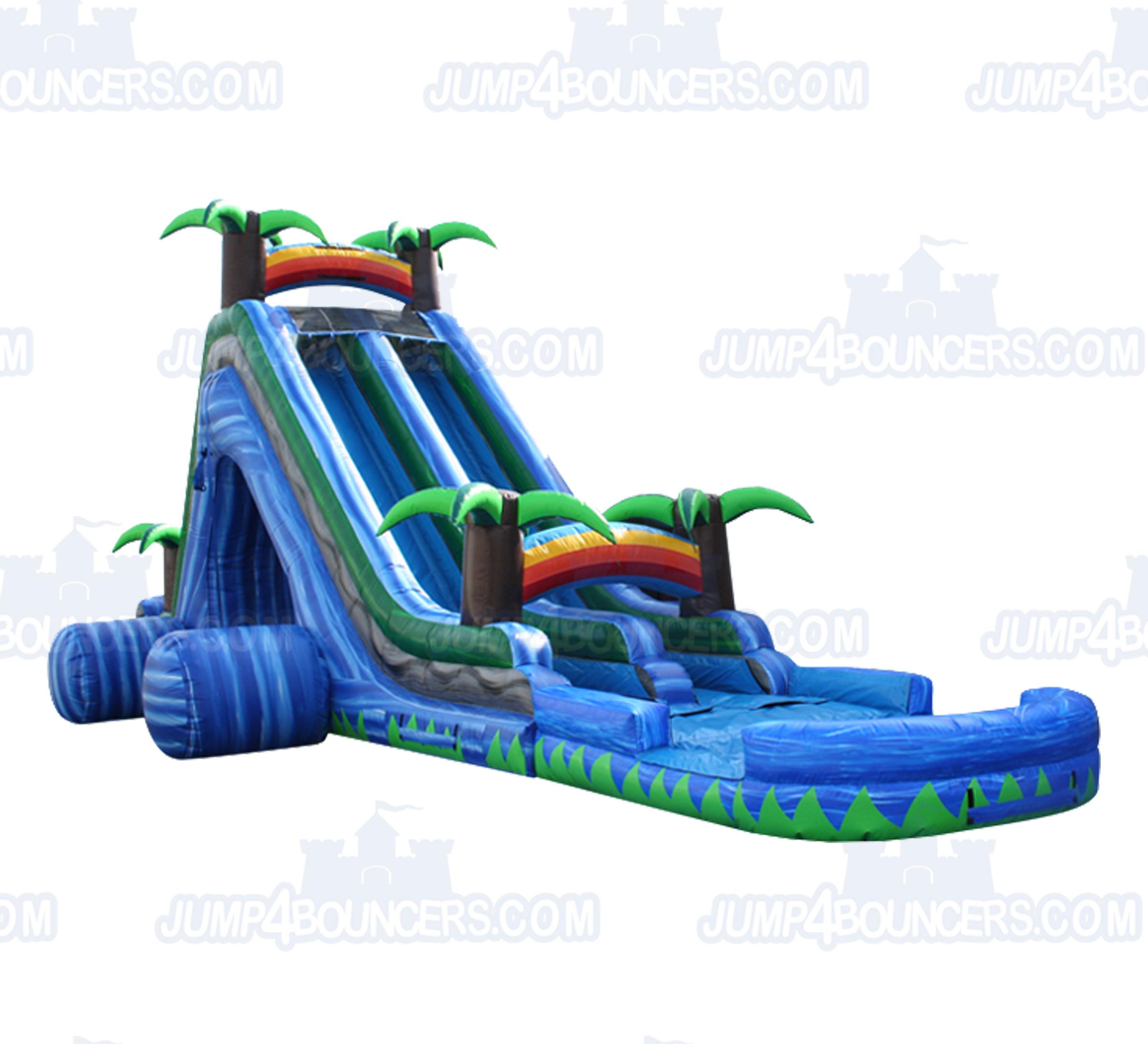 Inflatable Slide Rental Prices: WS3231 24′ Tropical Lava WaterSlide